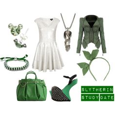 """Slytherin Study Date"" by olliegmich493 on Polyvore"