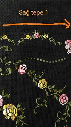 Prayer Rug, Cross Stitch, Crochet, Handmade, Indian Embroidery, Cross Stitch Embroidery, Punto De Cruz, Hearts, Crocheting