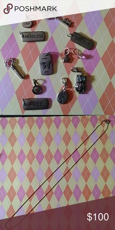 NEW Origami Owl Tags Lot Brand New (past consultant)  4 Tags 2 Key Dangles 1 Owl Dangle 5 Other Dangles 1 16in Chain  *Offers Welcome* Origami Owl Jewelry