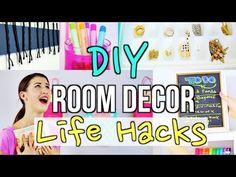 DIY Room Decor Life Hacks: Easy Tumblr DIY Ideas! - YouTube