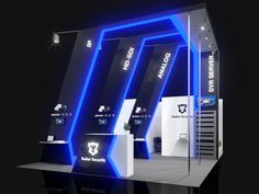 Balter Security exhibition stand on Behance Exhibition Stall, Exhibition Stand Design, Exhibition Display, Trade Show Booth Design, Display Design, Kiosk Design, Retail Design, Pop Design, Stage Design