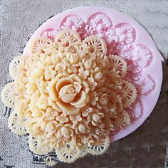 3D Round Flower Silicone Mold Fondant Molds Sugar Craft Tools Chocolate Mould For Cakes – USD $ 2.99