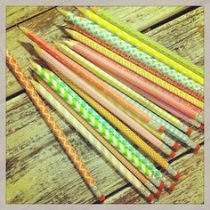 More ideas for #washitape. Back to school with cute pencils!