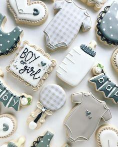Fancy Cookies, Iced Cookies, Cute Cookies, Royal Icing Cookies, Cupcake Cookies, Cupcakes, Sugar Cookies, Baby Shower Cookie Cutters, Baby Shower Cookies