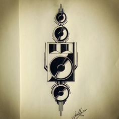 Tekno style tattoo, Buddy Verstrepen, fineliner on paper Music Tattoos, New Tattoos, Muse Of Music, Dub Music, Sound Wall, Drugs Art, Techno, Party Tattoos, Mandala Drawing