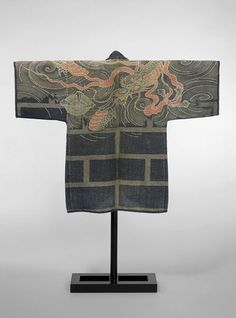 Quilted cotton fireman's jacket, Japan, late 19th century - early 20th century l Victoria and Albert Museum #quilting #fashion