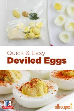 How To: Deviled Eggs in six quick steps, provided by @mccormickspice.