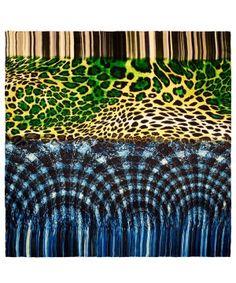 morphing cheetah square scarf