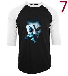 2017 Joker Heath Ledger Vintage 2 camisetas men three-quarter sleeve cotton t shirt raglan funny crossfit tee shirt homme