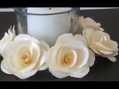 How to Make Paper Roses Crafts With Paper Tutorial - YouTube