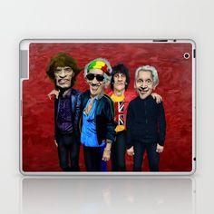 Old Scholl band LAPTOP & IPAD SKIN  @pointsalestore Society6 #laptop #skin #case #oil #popart #streetart #music #caricature #parody #people #marshall #rockandroll #rock #cartoons #comedy #humor #classic #rasta #movelikejagger