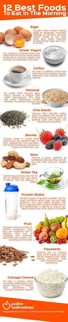 12 best foods to eat in the morning includes fruits cottage cheese flaxseeds protein shake nuts berries chia seeds eggs greek yogurt and coffee. Get an instant weight loss nutrition plan by plugging in your goals and preferences: www. Healthy Tips, Healthy Choices, Healthy Snacks, Healthy Recipes, Healthy Breakfasts, Healthy Yogurt, Yogurt Recipes, Healthy Weight, Free Recipes