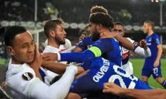 English Premier League side Everton on Thursday crashed out of the Europa League group stage with two matches still to play after a 3-0 defeat in Lyon.  AC Milan also missed a chance to clinch a spot in the last 32.  Everton without a permanent manager since the sack of Ronald Koeman last week succumbed to three second-half goals in France.  Goals from Bertrand Traore on 68 minutes Houssem Aouar on 76 minutes and Depay on 88 minutes was all the French club needed to send Everton out of the…