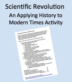 History: European/Scientific Revolution and Enlightenment term paper 355