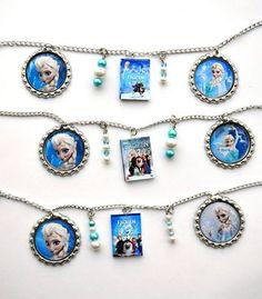 Disney Frozen Dvd Charm bottle cap bracelet  60 photo choices! | Spearcraft - Jewelry on ArtFire