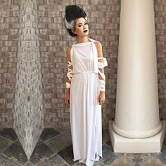 .: She's ALIVE! Bride of Frankenstein easy diy costume.