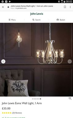 Buy John Lewis & Partners Esma Wall Light, 1 Arm from our View All Wall Lighting range at John Lewis & Partners. Living Room Upgrades, Lounge Lighting, Wall Lights, Ceiling Lights, Globe Pendant, All Wall, House Rooms, White Paints, Painting Frames