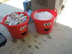Elmo buckets for drinks