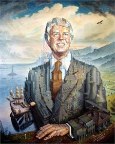 Jimmy Carter by Octavio Ocampo * I got to meet the artist at the Jimmy Carter Library bought this poster, which he signed. It was so cool to see his large paintings change when viewed from a distance to up close. Optical Illusion Paintings, Art Optical, Optical Illusions, Jimmy Carter, Illusion Kunst, Illusion Art, One Photo, Illusion Pictures, Meet The Artist