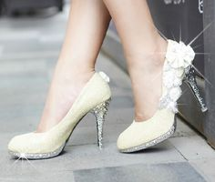 Flower Rhinestone Heels, bit much but spectacular all around