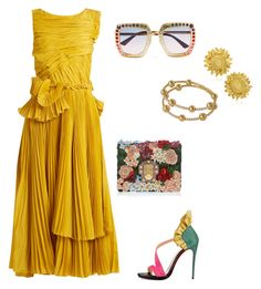"""""""Untitled #349"""" by lecoiffeur on Polyvore featuring Rochas, Christian Louboutin, Dolce&Gabbana, Gucci and Asprey"""