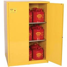 15 Gallon Flammable Liquid Safety Cabinet, Manual Close Door ...