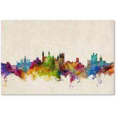 Trademark Fine Art Cambridge England Skyline II Canvas Art by Michael Tompsett, Size: 16 x 24, Multicolor