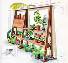 outdoor project?, via Flickr. Could save the storage shelves when we move and do this.