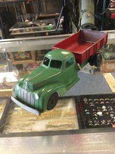 1946 HUBLEY PRESSED STEEL KIDDIE TOY FORD #476 MECHANICAL HEAVY DUMP TRUCK  | eBay