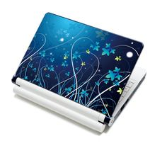 """Amazon.com: Meffort Inc® 15 15.6 Inch Laptop Notebook Skin Sticker Cover Art Decal - Fits Laptop Size of 13"""" to 16"""" (Included 2 Wrist Pad) (Blue Lovely Flowers): Computers & Accessories"""
