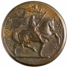 Paul Manship - Jeanne D'Arc Medal. Bronze. Circa 1915. Front View.