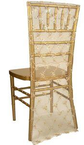 Vintage Lace Nude Chivari Chair Sleeve
