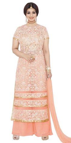Beautiful Orange Georgette Salwar Suit.