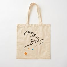 Printed Tote Bags, Cotton Tote Bags, Reusable Tote Bags, Kitesurfing, Minimalist Design, Shopping Bag, Digital Prints, Cotton Fabric, Art Prints