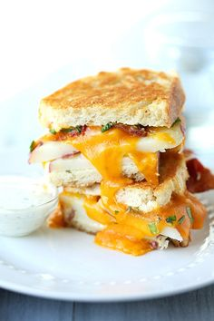 Ranch Potato Grilled Cheese Sandwich - this is the best grilled cheese I've ever had!! It tastes like cheese fries in grilled cheese form @Jaclyn Booton {Cooking Classy}