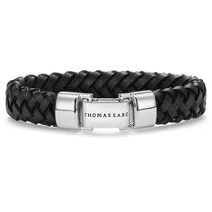 Black Leather Bracelet w-Folding Silver Clasp