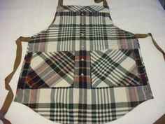 Apron repurposed from man's shirt!
