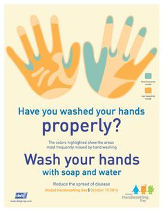 Make hands clean, not contagious! A poster for Global Handwashing Day by @handhygiene