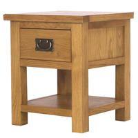 Rustic Saxon Solid Oak Lamp Table