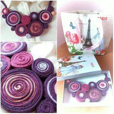 colier toamna plum Icing, Seasons, Fall, Handmade, Inspiration, Boutique, Model, Autumn, Biblical Inspiration