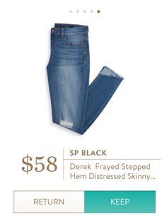 **** Perfect color denim skinny jeans! Love the distressed look. Stitch Fix Fall, Stitch Fix Spring Stitch Fix Summer 2016 2017. Stitch Fix Fall Spring fashion. #StitchFix #Affiliate #StitchFixInfluencer