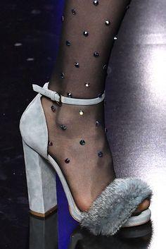 Elie Saab - Suede and Fur Pump (www.elle.com) Runway Shoes 98af22535