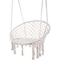 The Morning Meadow Macrame Chair – TerraSoleil Hanging Hammock Chair, Swinging Chair, Hanging Chairs, Meditation Chair, Macrame Chairs, Portable Hammock, Woven Chair, Patio Swing, Outdoor Chairs