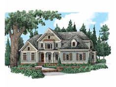 Cottage House Plan with 2828 Square Feet and 4 Bedrooms from Dream Home Source | House Plan Code DHSW74159
