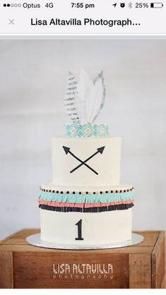 Cowboys and Indians theme cake