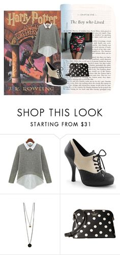 """Life at Hogwarts #2"" by pie-epic ❤ liked on Polyvore featuring Satine and Kate Spade"