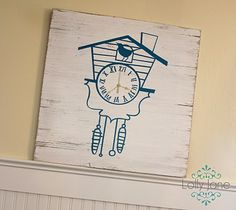 decoro sin decoro: Reloj cuco pintado