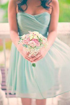 Pretty #Mint Bridesmaid dress