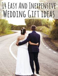"Love these very nice ideas for GIVING a wedding present when your funds are not ""Waterford"" level."
