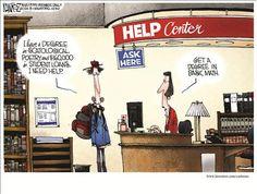 Political Cartoons by Michael Ramirez   Get a job.